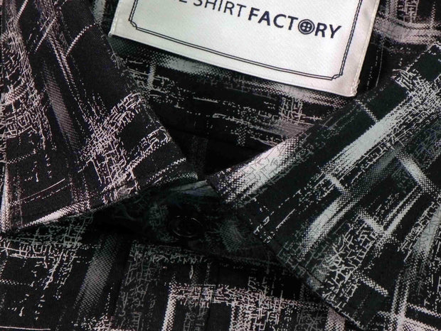 Men's 100% Cotton Printed Shirt - Black (0261) - Theshirtfactory