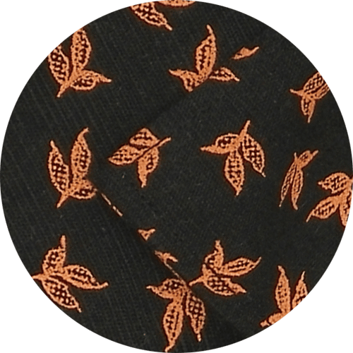 Selects Cotton Printed Shirt Linen Finish - Orange Print (0565) - Theshirtfactory