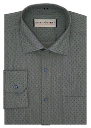 Men's 100% Cotton Formal Shirt - Slate (0067) - Theshirtfactory