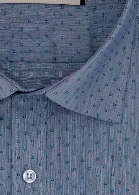 Men's 100% Cotton Formal Shirt - Steel Blue (0066) - Theshirtfactory