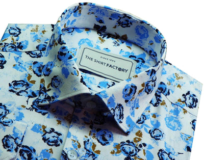 Men's 100% Cotton Printed Shirt - Multicolor (0328) - Theshirtfactory