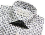 Men's Premium Cotton Printed Shirt - White (0318) - Theshirtfactory