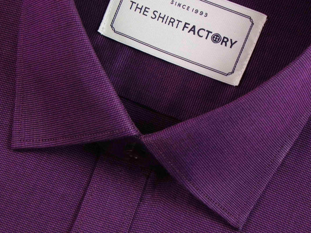 Men's Premium Giza Cotton Plain Shirt - Purple (0305) - Theshirtfactory