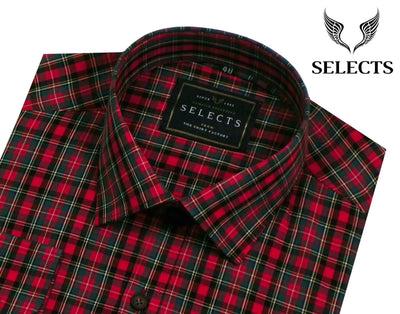 Selects Premium Cotton Check Shirt - Multicolor (0248) - Theshirtfactory
