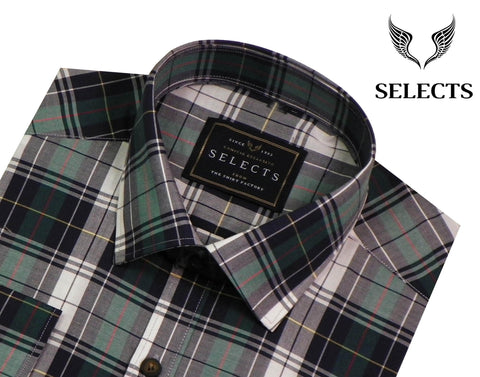 Selects Premium Cotton Check Shirt - Multicolor (0250) - Theshirtfactory