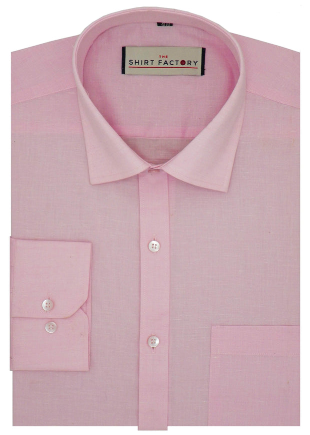 Men's Formal Cotton Blend Plain Shirt - Light Pink (0007) - Theshirtfactory