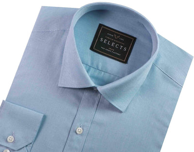 Men's Premium Giza Cotton Plain Shirt - Sky Blue (0181) - Theshirtfactory