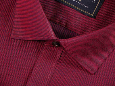 Selects Premium Giza Cotton Plain Shirt - Dark Red (0182) - Theshirtfactory