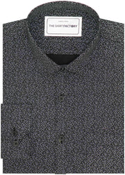 Men's 100% Cotton Printed Shirt - Black (0556) - Theshirtfactory