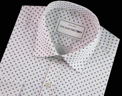 Men's 100% Cotton Printed Shirt - White (0317) - Theshirtfactory