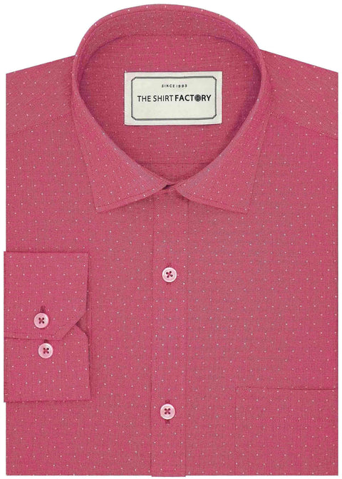 Men's Premium Cotton Dobby Shirt (Best for Suits) - Red (0597) - Theshirtfactory
