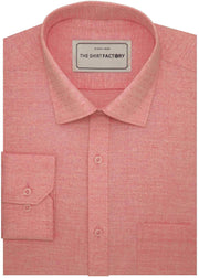 Men's 100% Cotton Dobby Shirt Light Pink - (0610) - Theshirtfactory