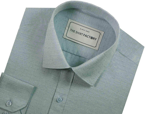 Men's 100% Cotton Dobby Shirt Sky Blue - (0606) - Theshirtfactory