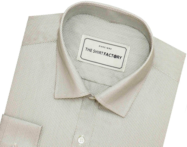 Men's Cotton Blend Dobby Plain Shirt - Grey (0789) - Theshirtfactory