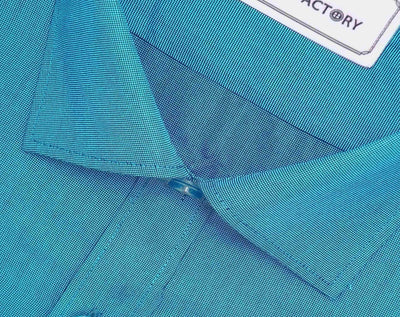 Men's Cotton Blend Plain Shirt - Teal Blue (0772) - Theshirtfactory