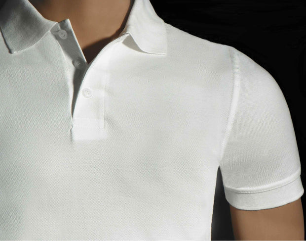 Men's Polo Collar White T-Shirt - Theshirtfactory
