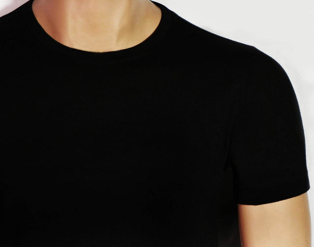 Men's Round Neck Plain Black T-Shirt - Theshirtfactory