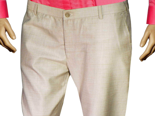 Selects Men's Formal Trouser - Beige (TRO-004) - Theshirtfactory