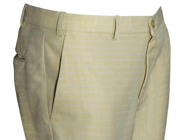 Selects Men's Formal Trouser - Beige Checks (TRO-017) - Theshirtfactory