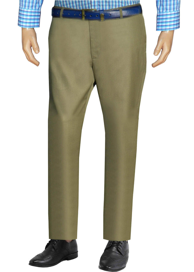 Selects Men's Formal Trouser - Olive (TRO-016) - Theshirtfactory