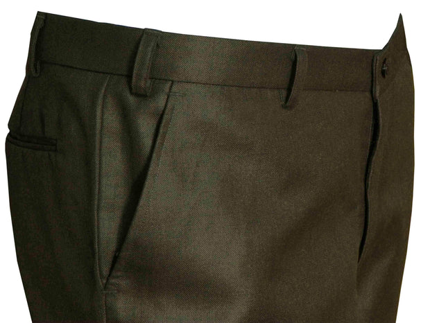 Selects Men's Formal Trouser - Solid Brown (TRO-010) - Theshirtfactory