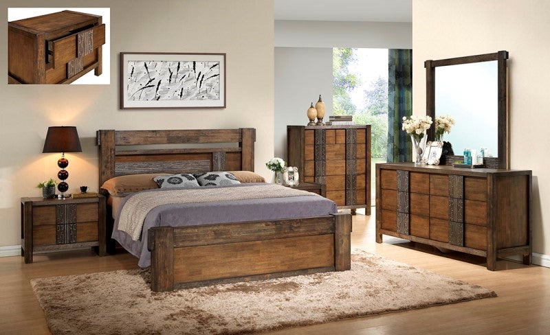 Queen Iron Bark bed frame