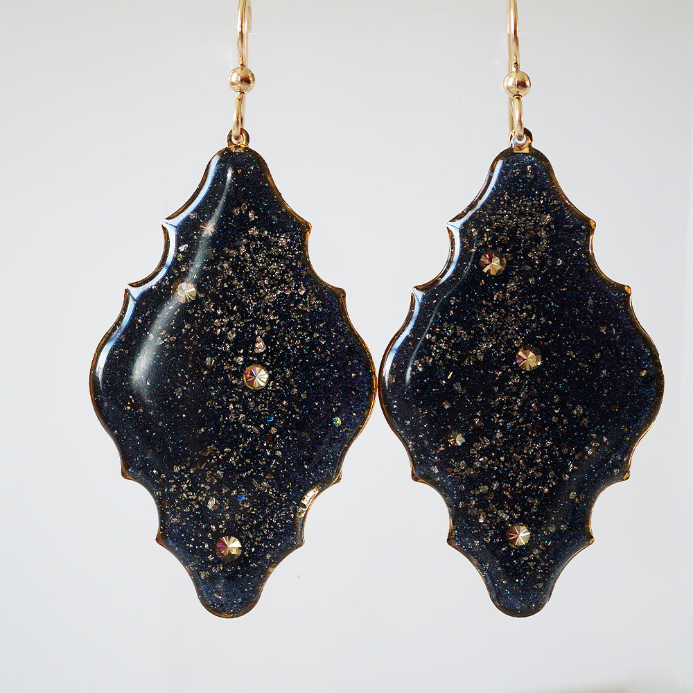 Galaxy Cloud Statement Earrings