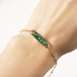 Malachite Bar Bracelet