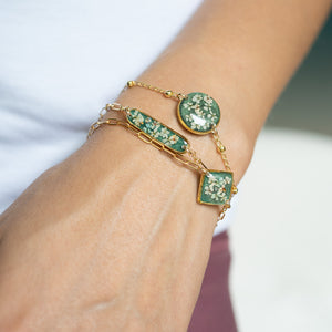 Load image into Gallery viewer, Flower Green Bracelet