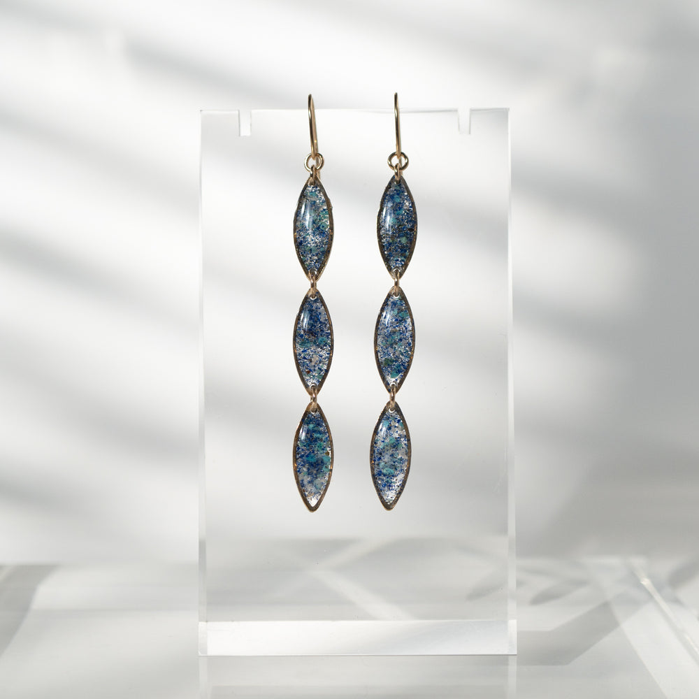 Long OvalOcean Mix Earrings