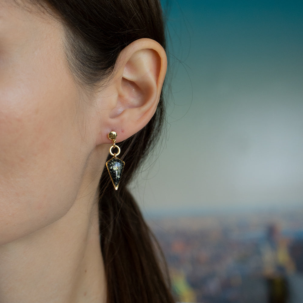 Load image into Gallery viewer, Dangling Galaxy Earrings