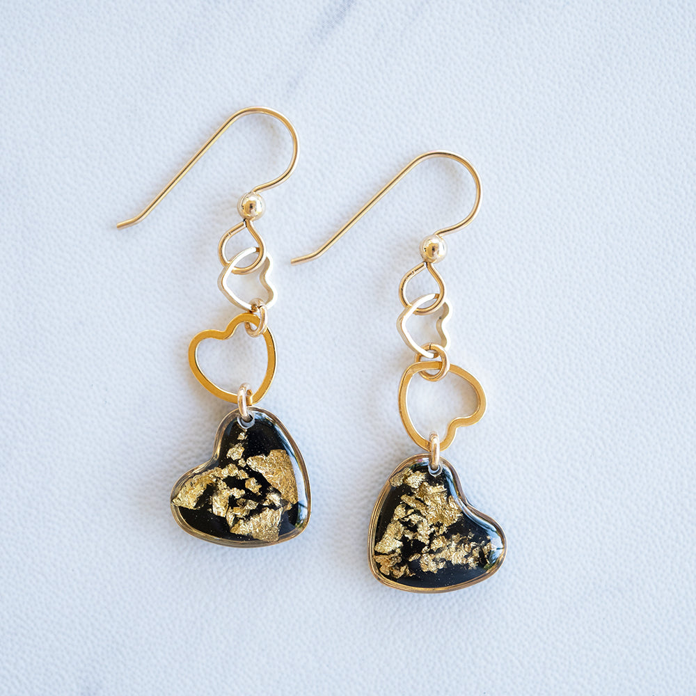 Dangling Hearts Earrings
