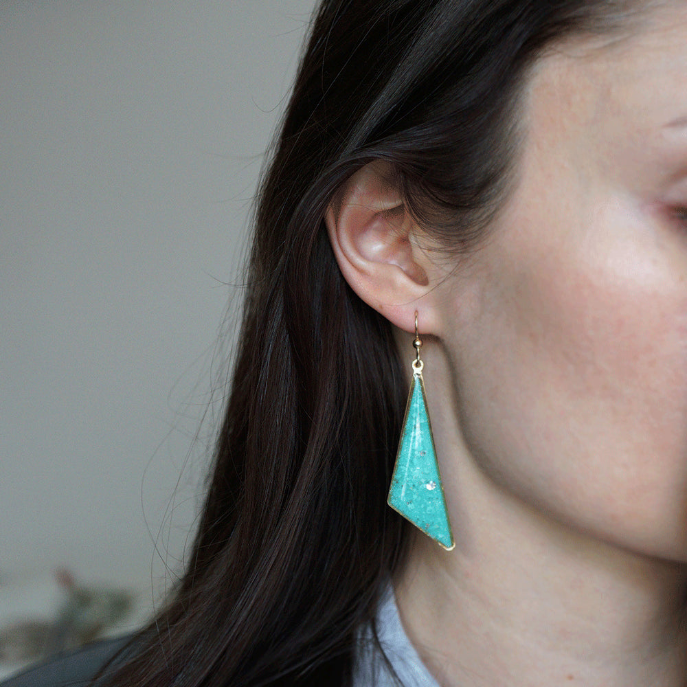 Blue Dangling Earrings