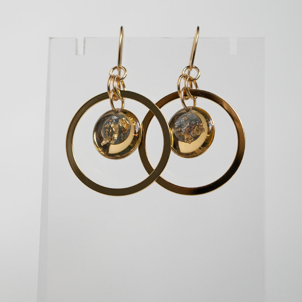 Load image into Gallery viewer, Dangling Fall Orbit Earrings
