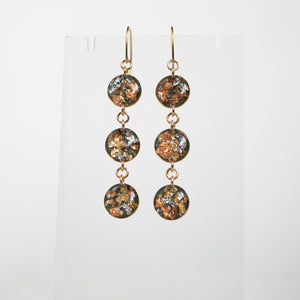 Load image into Gallery viewer, Long Circle Fall Gold Earrings