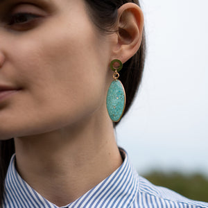 Statement Dangling Blue Earrings
