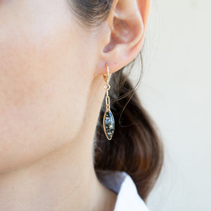 Dangling Oval Earrings