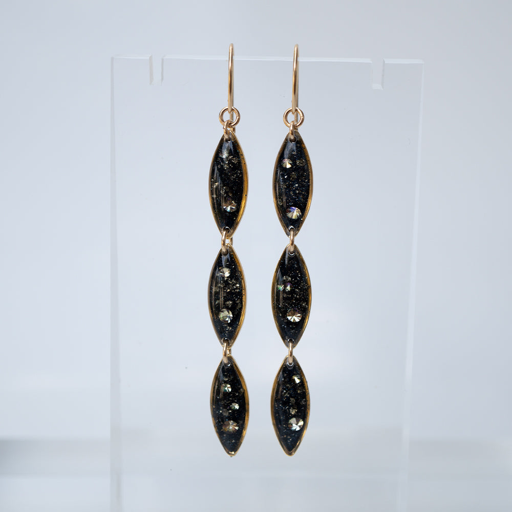 Load image into Gallery viewer, Oval Dangling Galaxy Earrings