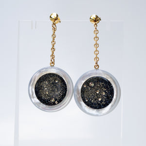 Galaxy Pearl Circle Earrings