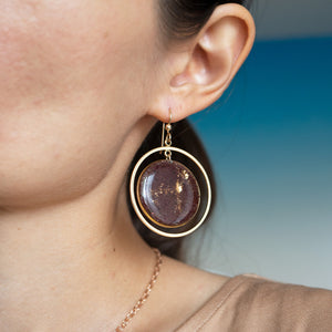 Dangling Garnet Statement Earrings