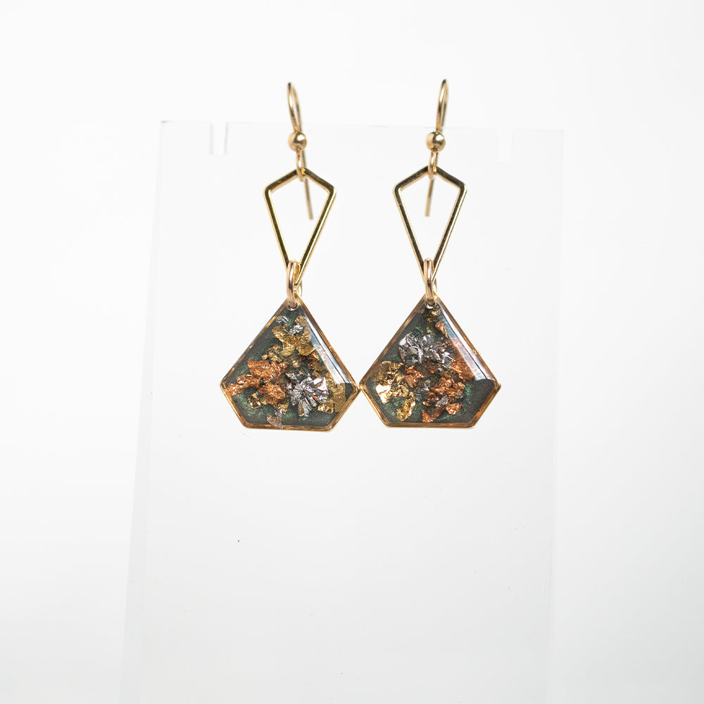 Dangling Fall Geometric Earrings