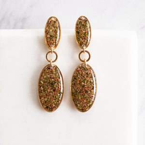 Statement Unakite Earrings