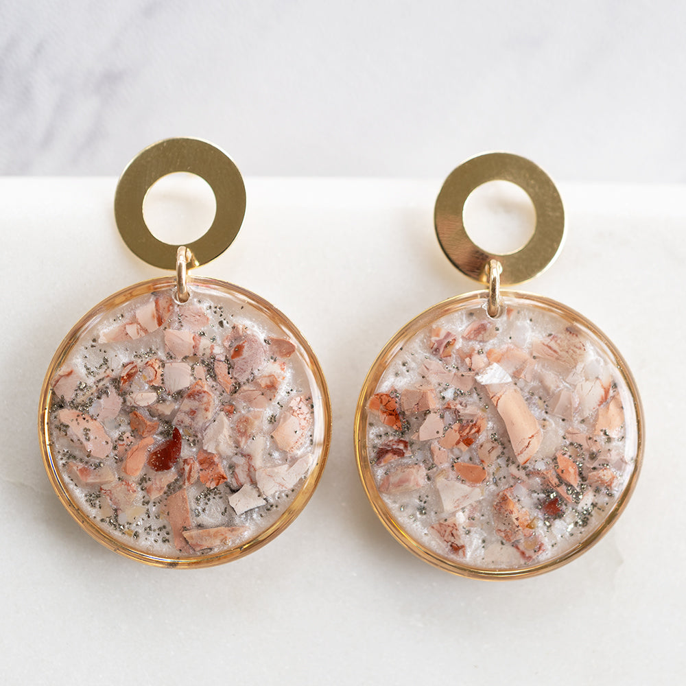 Dangling Jasper Statement Earrings