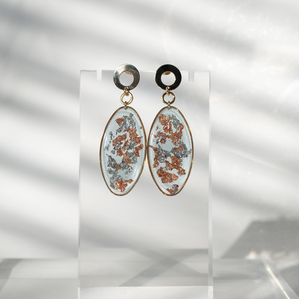 Load image into Gallery viewer, Statement Dangling Ice Earrings