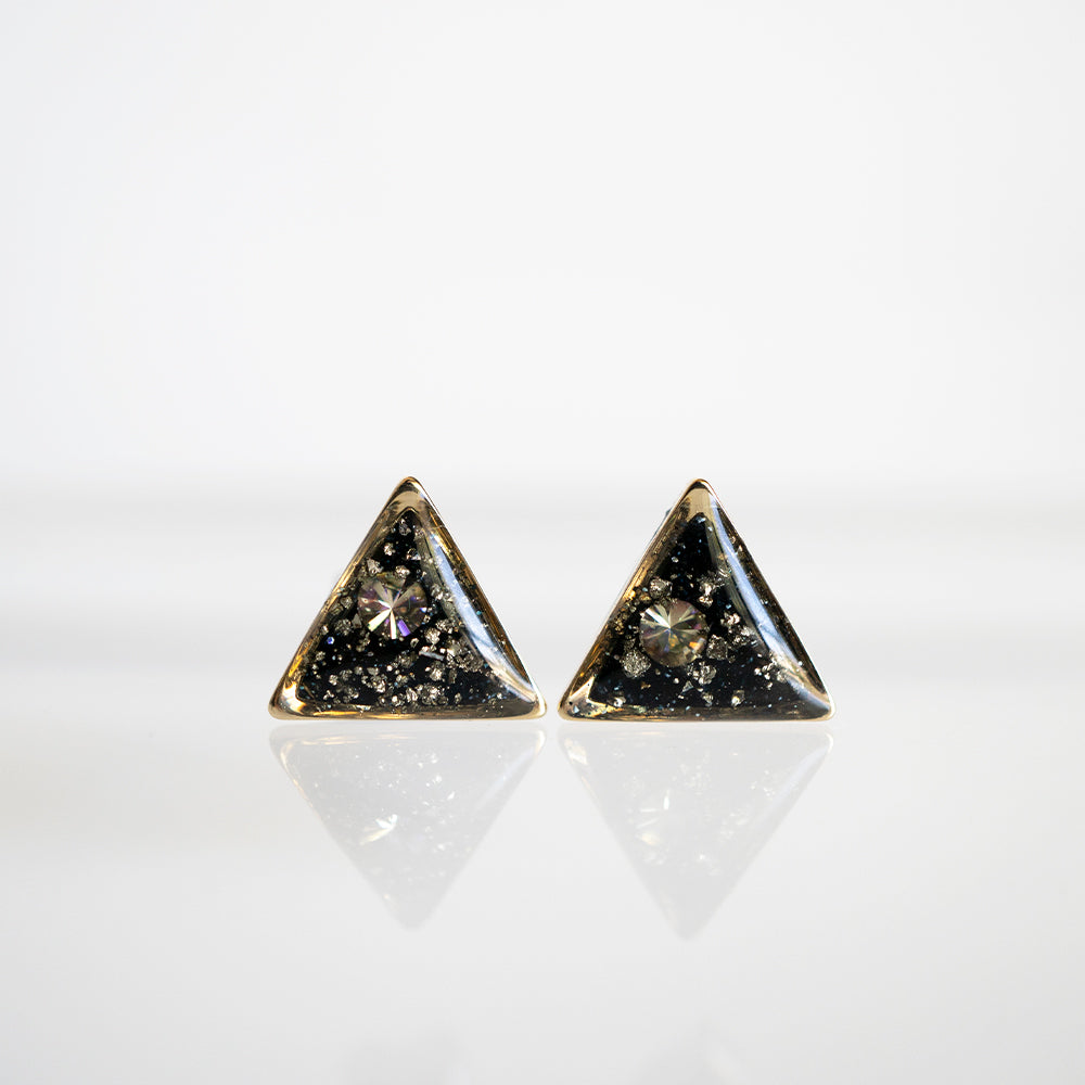 Load image into Gallery viewer, Galaxy Triangle Earrings