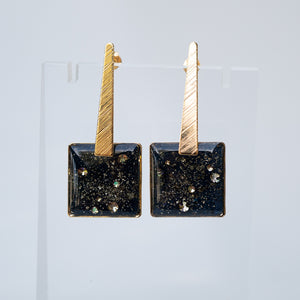 Load image into Gallery viewer, Dangling Square Galaxy Earrings