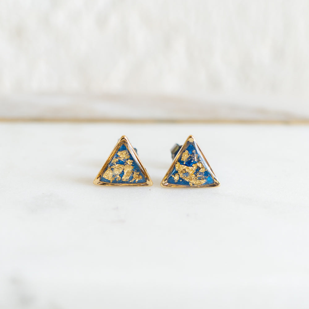 Load image into Gallery viewer, Bright Blue and Gold Earrings