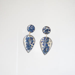 Load image into Gallery viewer, Lapis Dangling Earrings