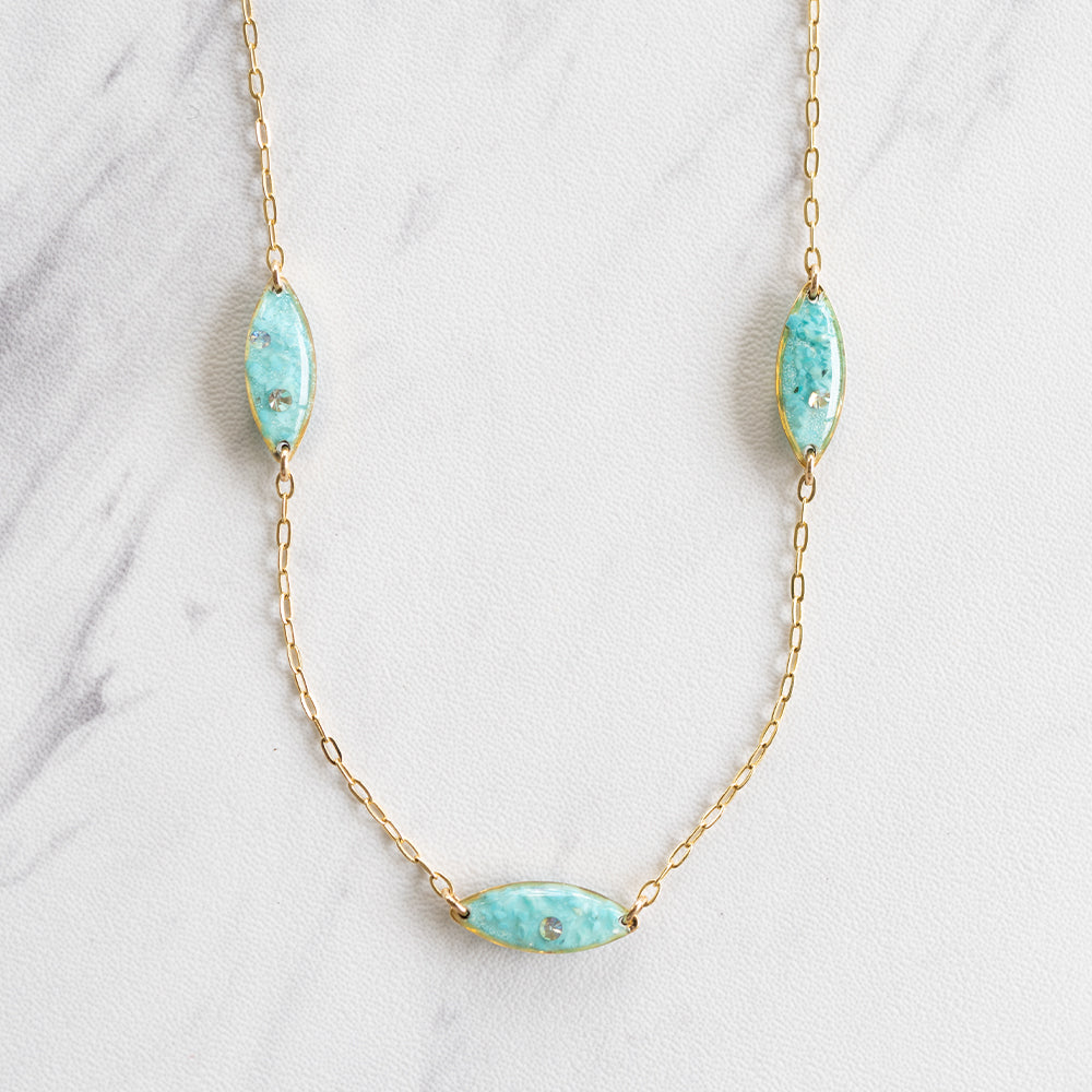 Blue Ovals Necklace