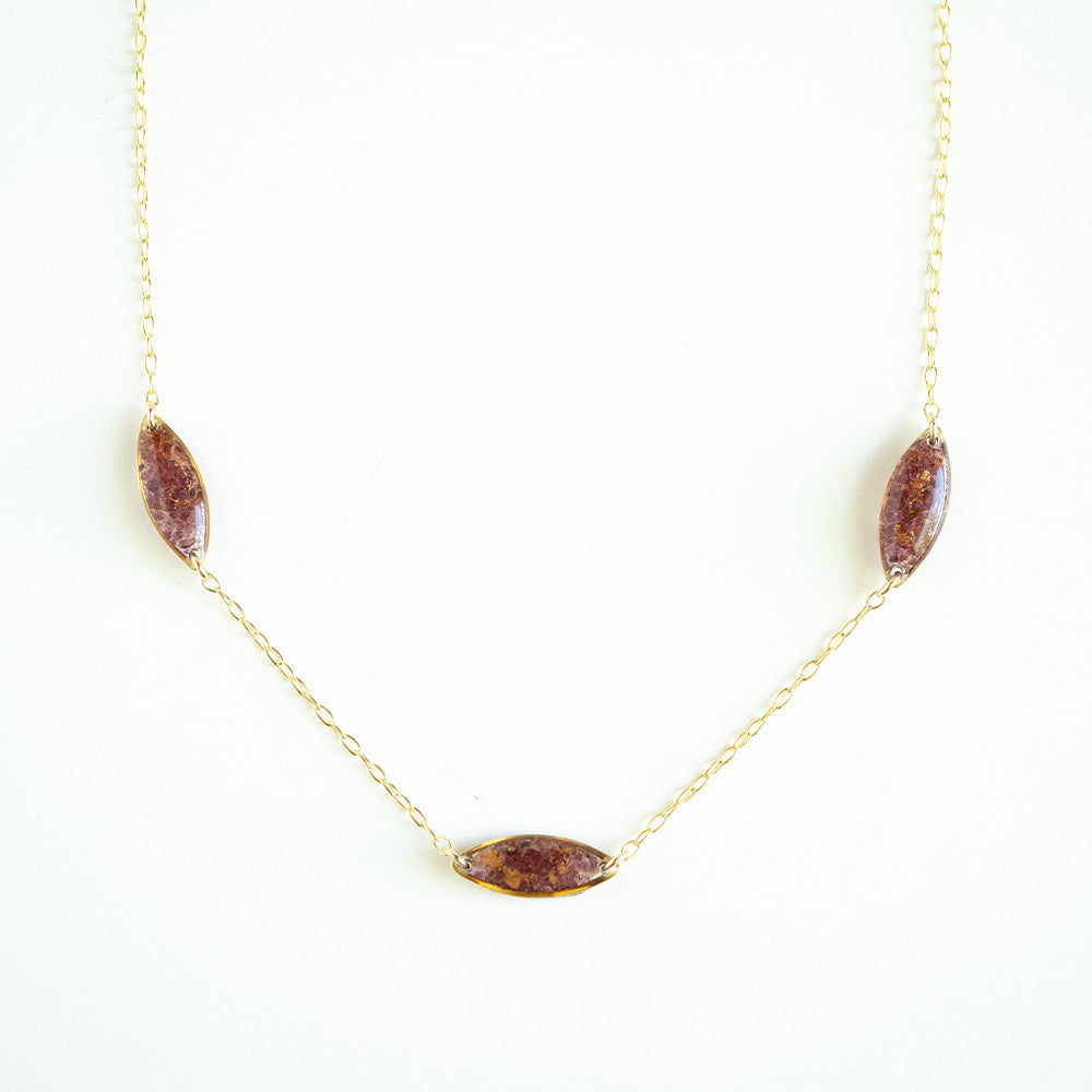 Garnet Ovals Necklace